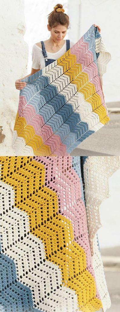 Free Crochet Pattern for a Zig-Zag Afghan