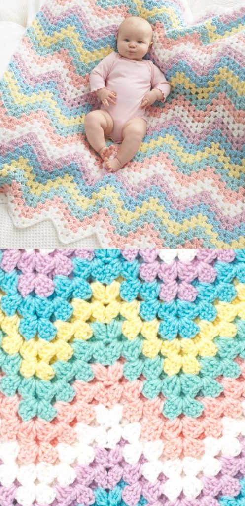 Free pattern chevron crochet blanket for baby