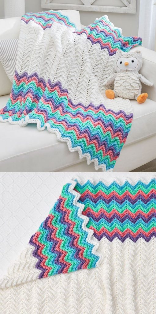 Ripple Blanket Crochet Patterns for Baby