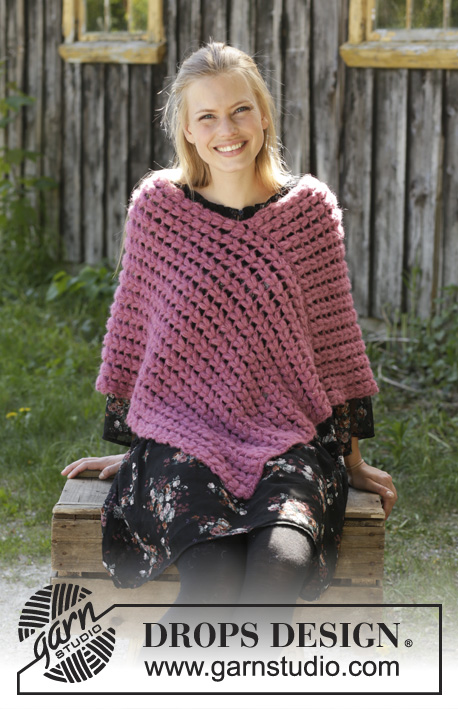 Free Crochet Pattern for a Puff Stitch Poncho