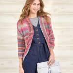 Free Knitting Pattern for a Crochet Shrug Cardigan