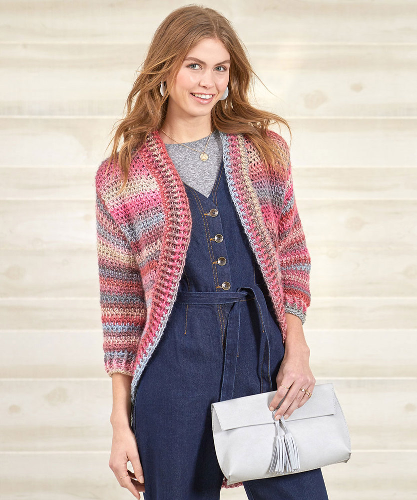 Free Knitting Pattern for a Crochet Shrug Cardigan