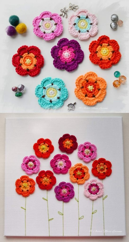 Free Crochet Pattern for Little Flowers that are Addictive to Make