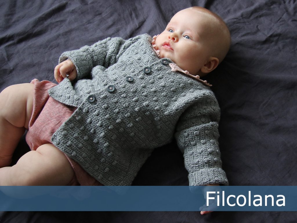 Free Crochet Pattern for a Bobble Baby Cardigan
