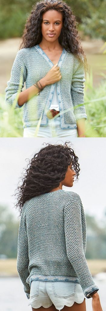 Free Crochet Pattern for a Breeze Summer Cardigan