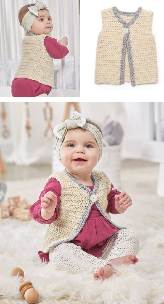 Free Crochet Pattern for a Classic Baby Vest