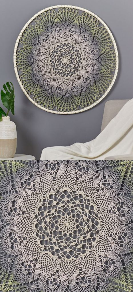 Free Crochet Pattern for a Doily Dream Catcher