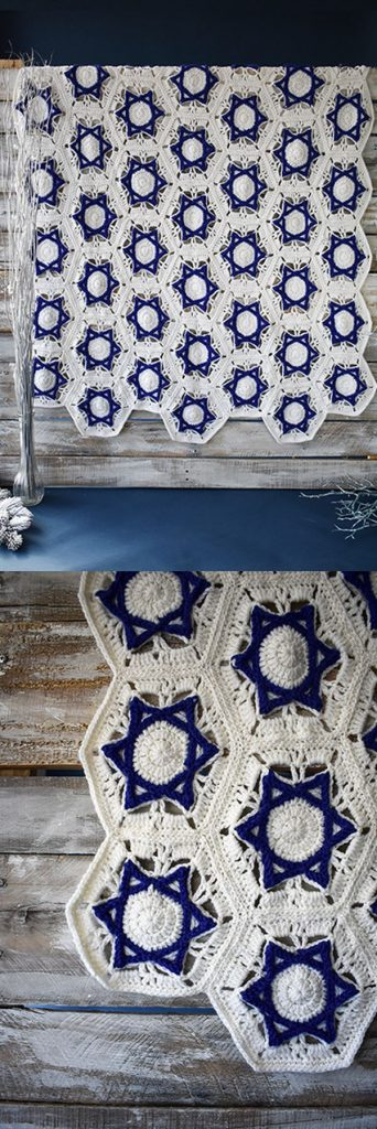 Free Crochet Pattern for a Hanukkah Throw