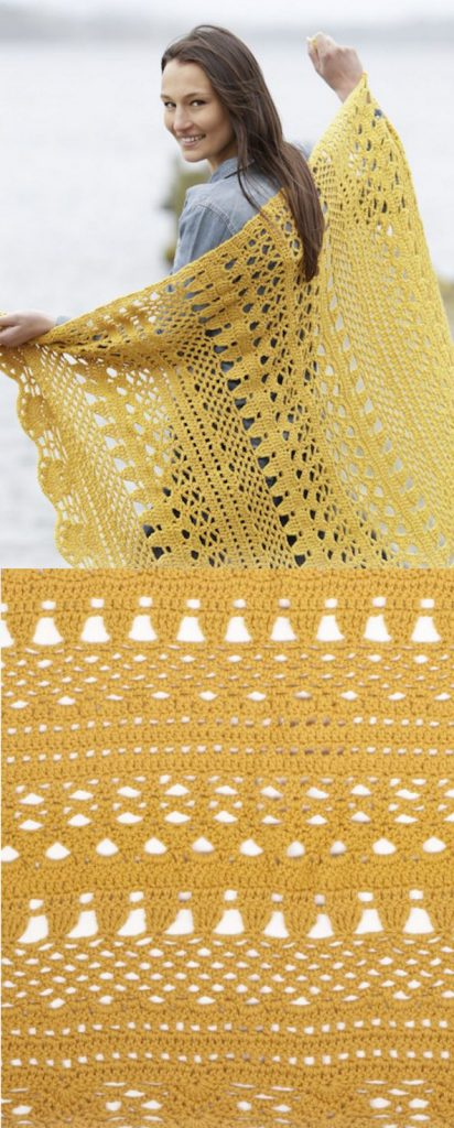 Free Crochet Pattern for a Lace Blanket