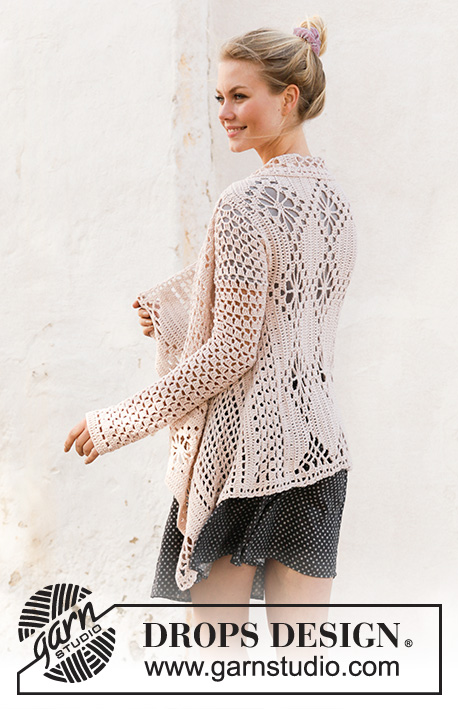 Free Crochet Pattern for a Lace Square Jacket for Women