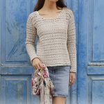 Free Crochet Pattern for a Woman's Lace Sweater