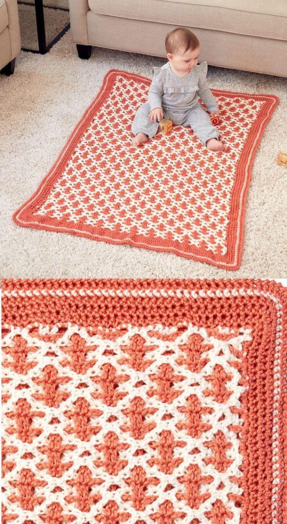 Free Pattern for an Interlocking Stitch Crochet Pattern