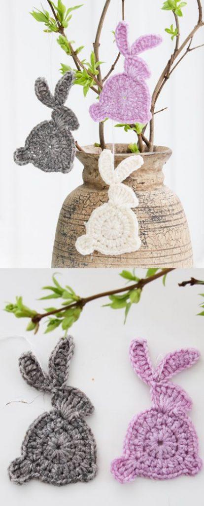 Free Crochet Pattern for Hoppity Hop Bunny Appliques