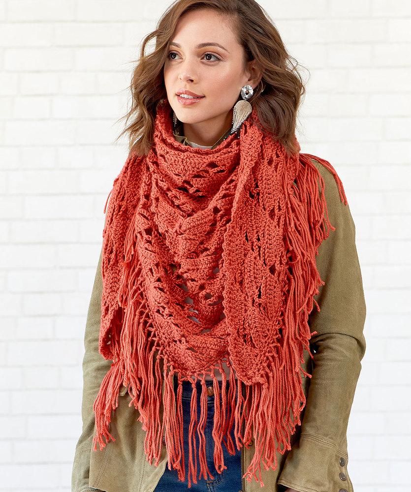 Free Crochet Pattern for a Boho Vibe Shawl