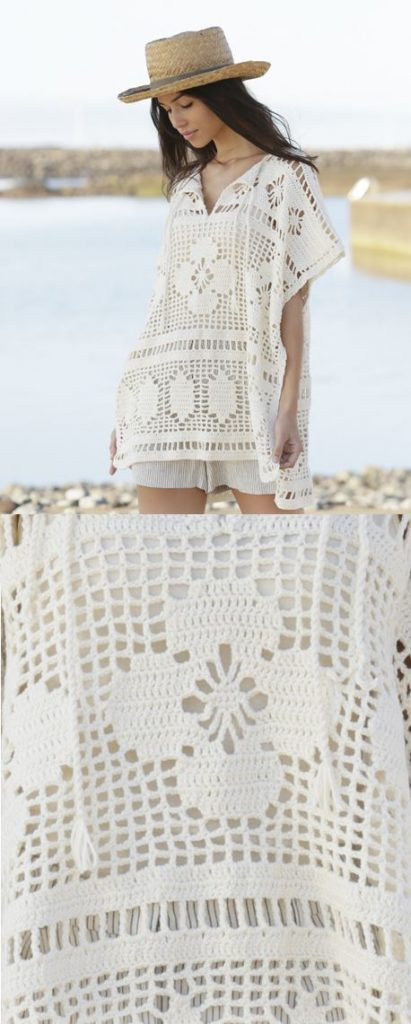 Free Crochet Pattern for a Carefree Summer Cover Up in Lace