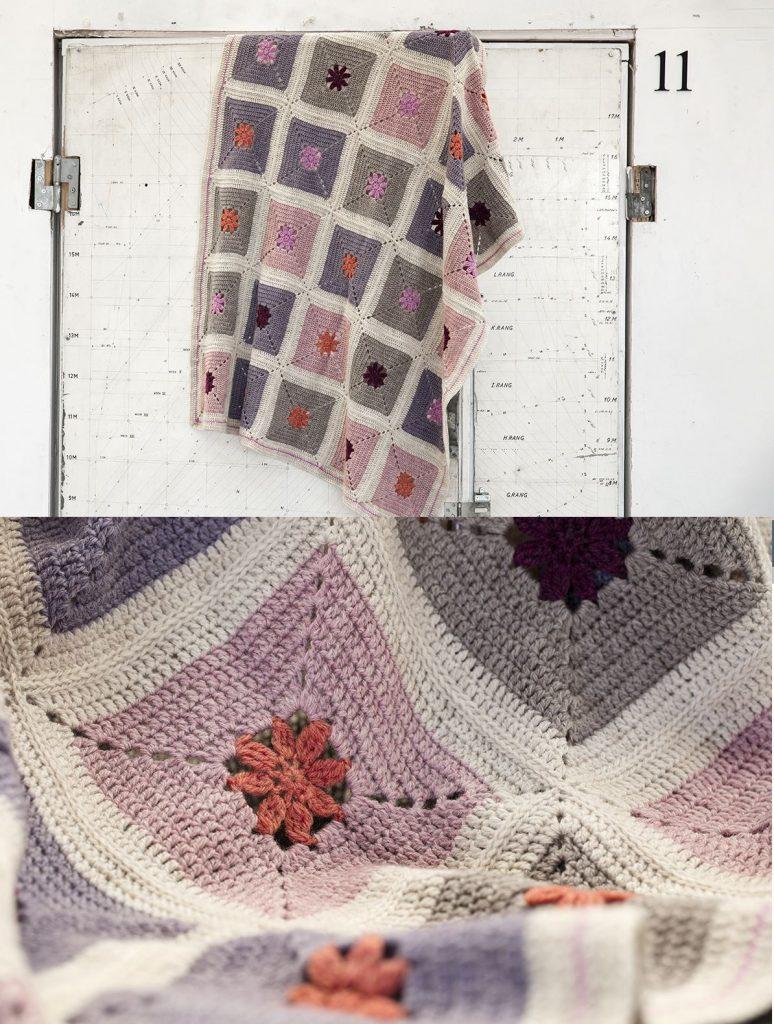 Free Crochet Pattern for a Center Flower Afghan