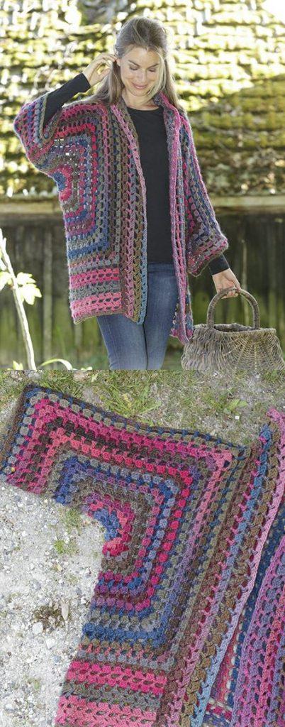Free Crochet Pattern for a Granny Glam Kimono Jacket