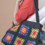 Free Crochet Pattern for a Granny Square Bag