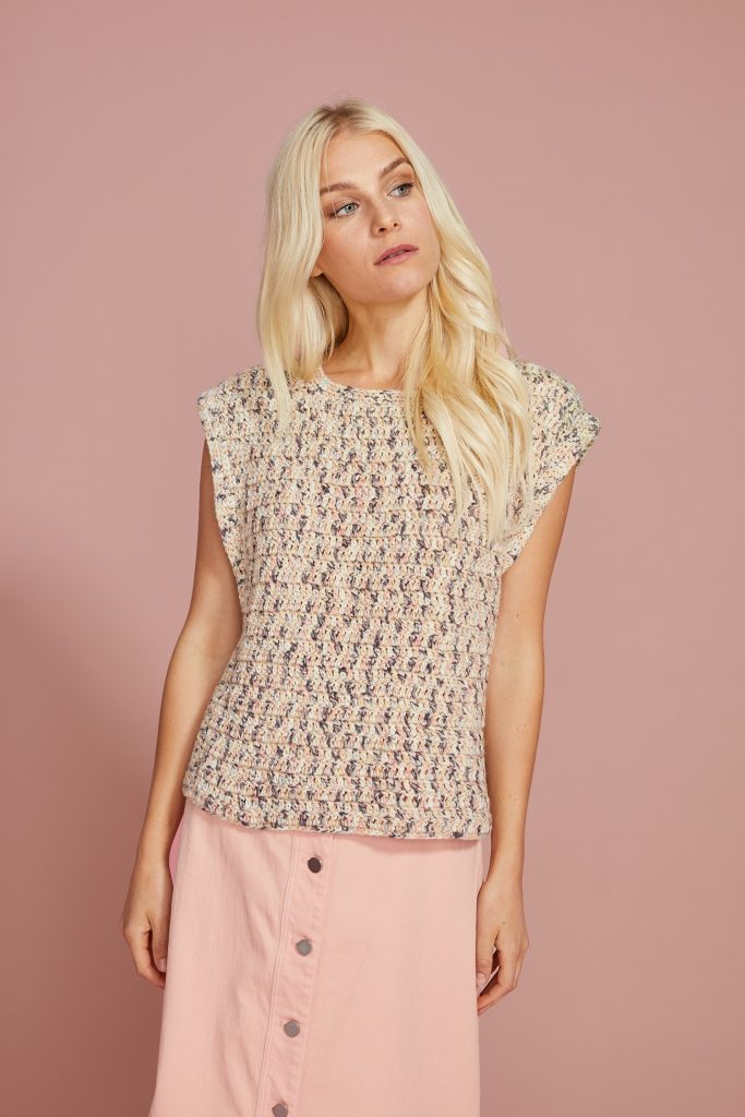 Free Crochet Pattern for a Ladies Top Ansa