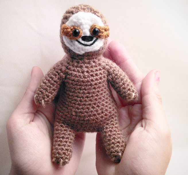 Free Crochet Pattern for a Sloth Amigurumi
