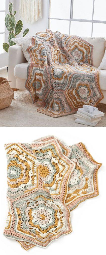 Free Crochet Pattern for Desert Dreams Throw
