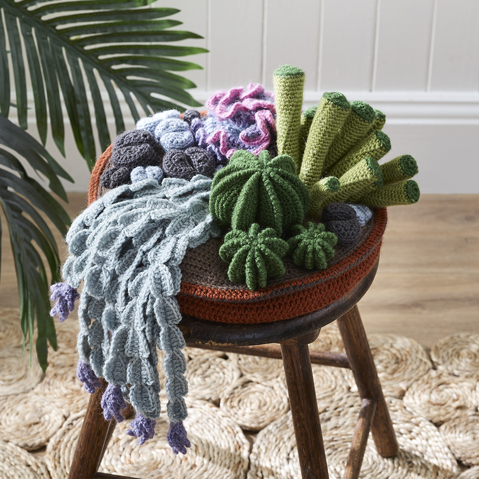 Free Crochet Pattern for a Cactus Garden