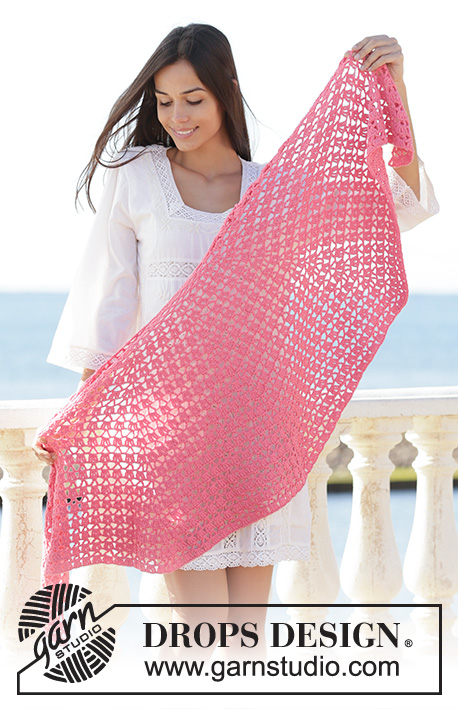 Free Crochet Pattern for a Shawl - Watermelon Slice