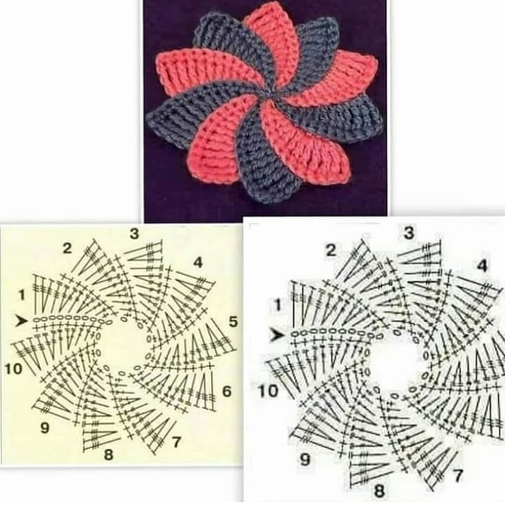 Crochet Motifs and Apliques ⋆ Crochet Kingdom (90 free crochet