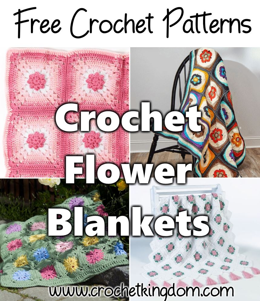 7 Crochet Flower Blanket Patterns Free