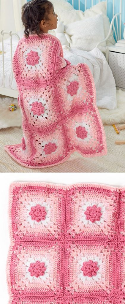 Crochet Flower Baby Blanket Patterns Free