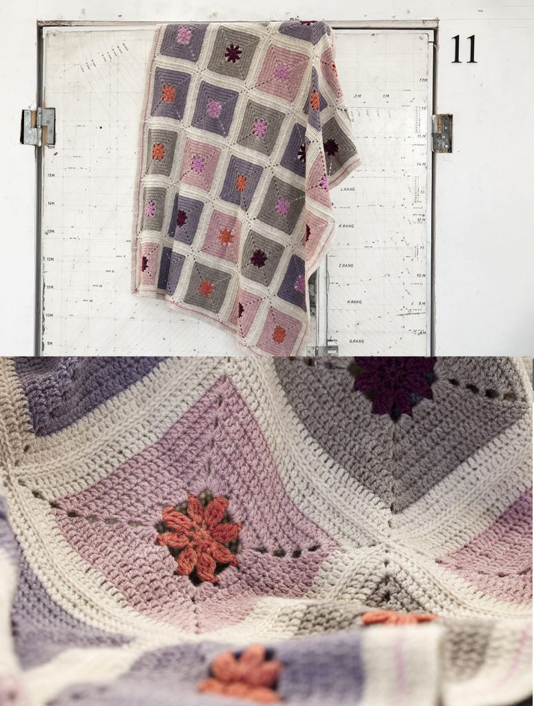 Crochet Flower Blanket Patterns Free
