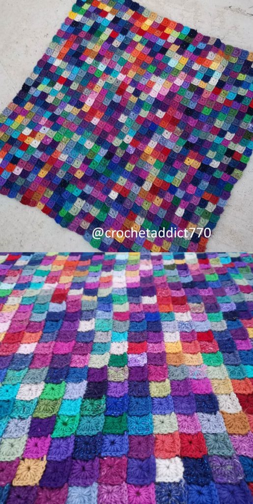 Free Crochet Pattern for a Little Squares Blanket