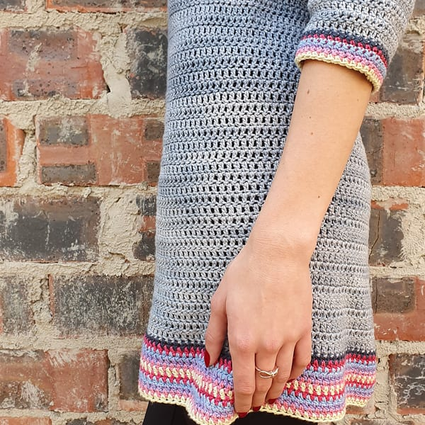 Free Knitting Pattern for a Boho Tunic for Women
