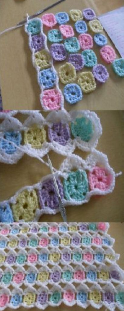 Stash Buster Crochet Blanket Pattern Ideas - Left Over Yarn Baby Blanket