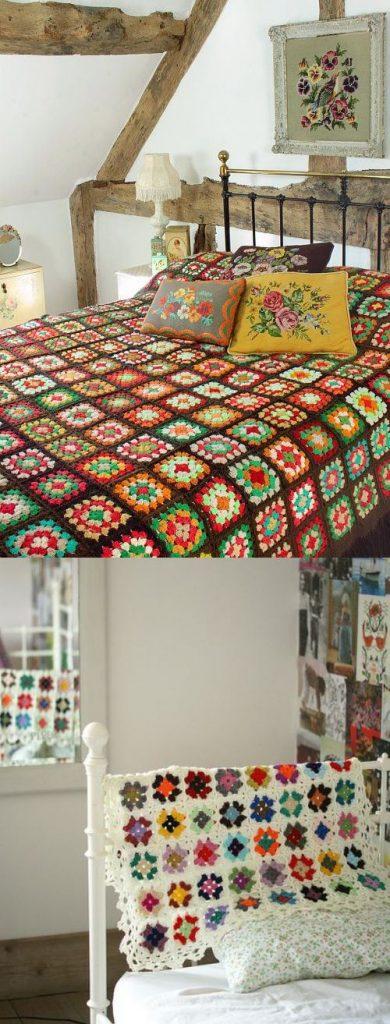 stash buster crochet blanket granny square