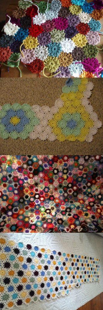 stash buster crochet blanket pattern Yo-Yo Afghans