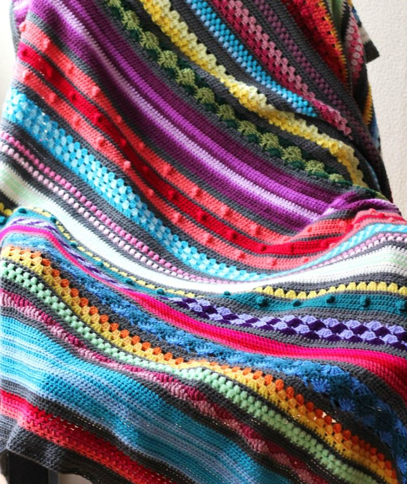 yarn stash bust blanket crochet free pattern