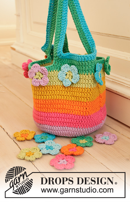 Free Crochet Pattern for a Flower Market Bag