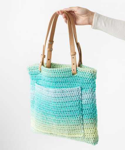 Free crochet pattern for an easy tote bag