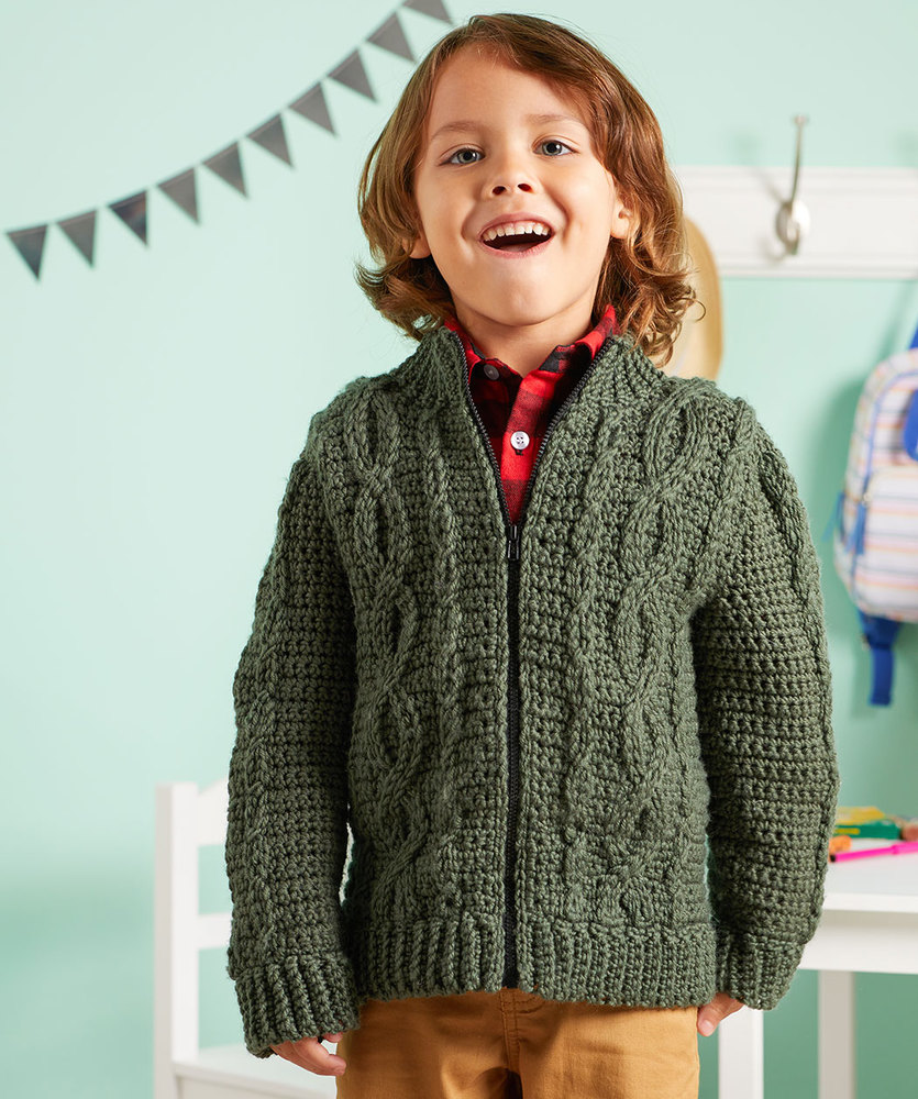 Free Pattern for a Chic Cabled Crochet Jacket
