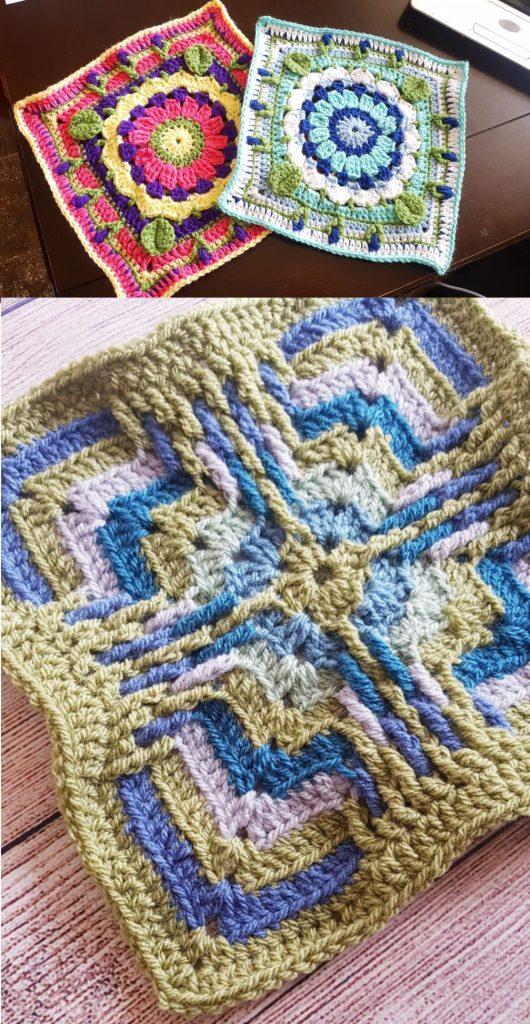CAL Crochet Along 2019 Free granny squares