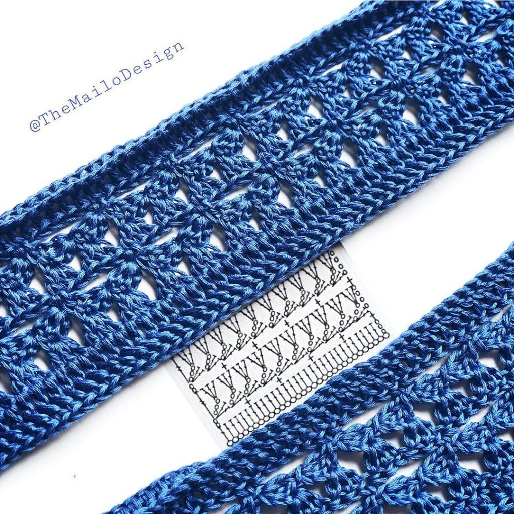 Fancy Stripe Crochet Diagram Stitch
