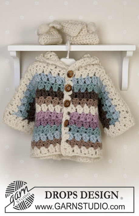 Free Crochet Pattern for a Baby and Toddler Jacket Unisex