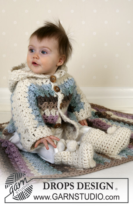 Free Crochet Pattern for a Baby and Toddler Jacket Unisex with Socks