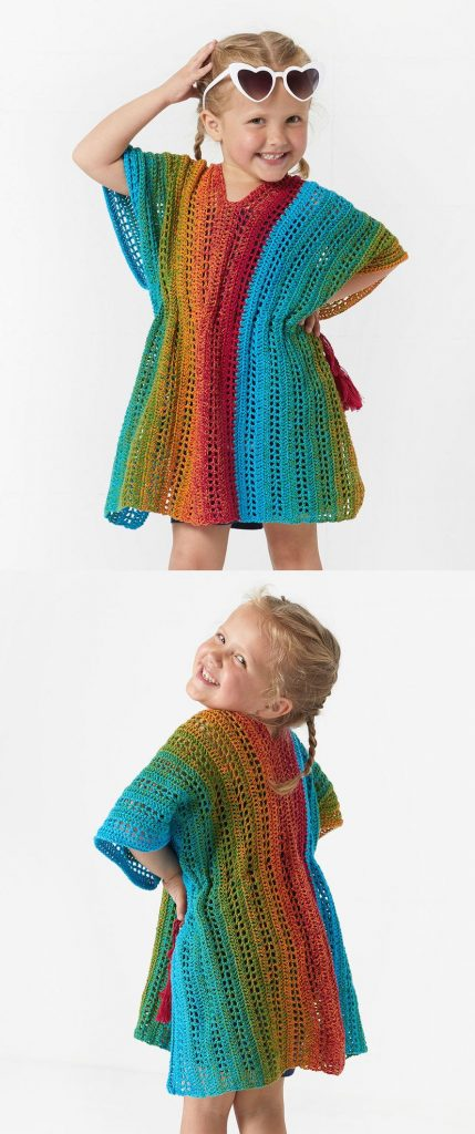 Free Crochet Pattern for a Beach Girl Cover Up