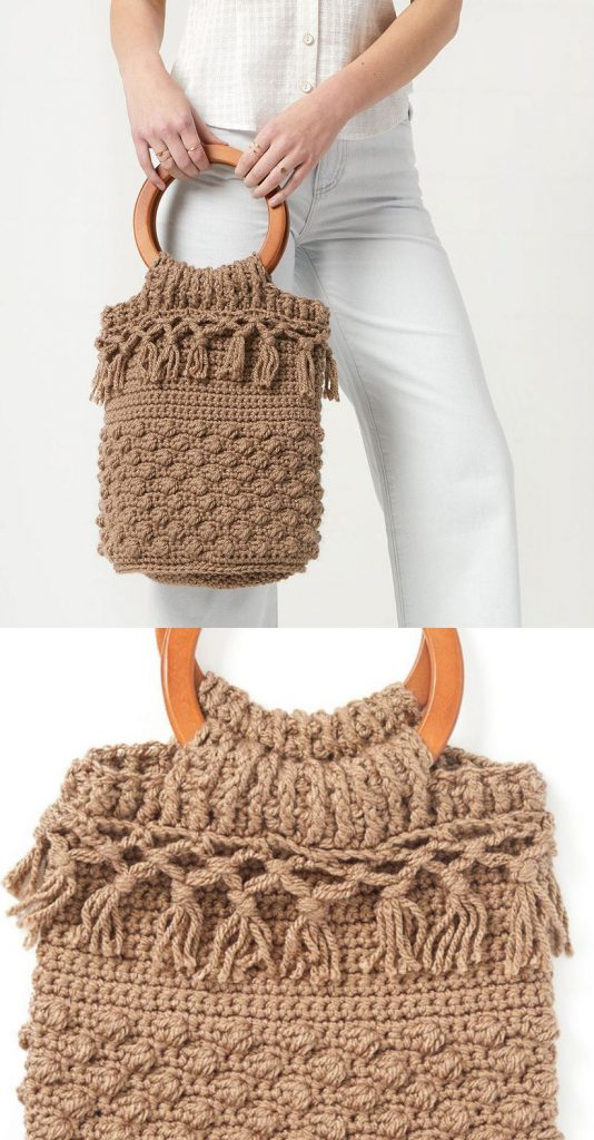 Free Crochet Pattern for a Day Trip Bucket Bag