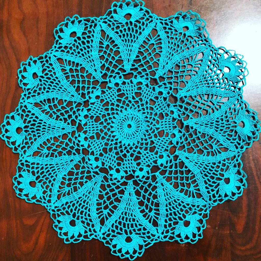 Free Crochet Pattern for a Decorative Doily