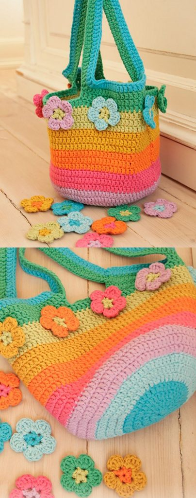 Free Crochet Pattern for a Flower Market Bag