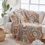 Free Crochet Pattern for a Large Hexagon Blanket - Desert Dreams Throw