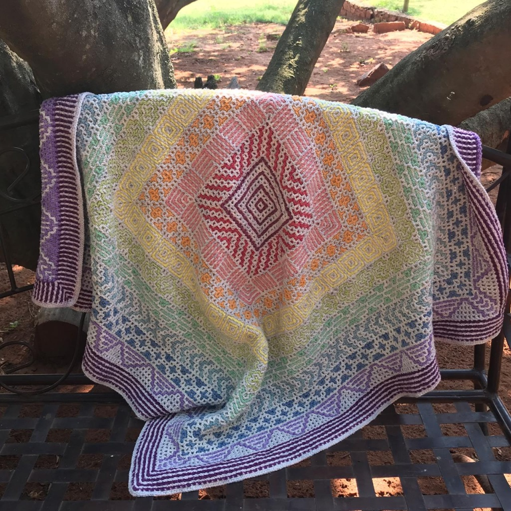 Rainbow cal crochet along free 2019
